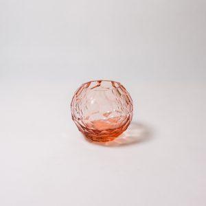 Rose tea-light crystal holder