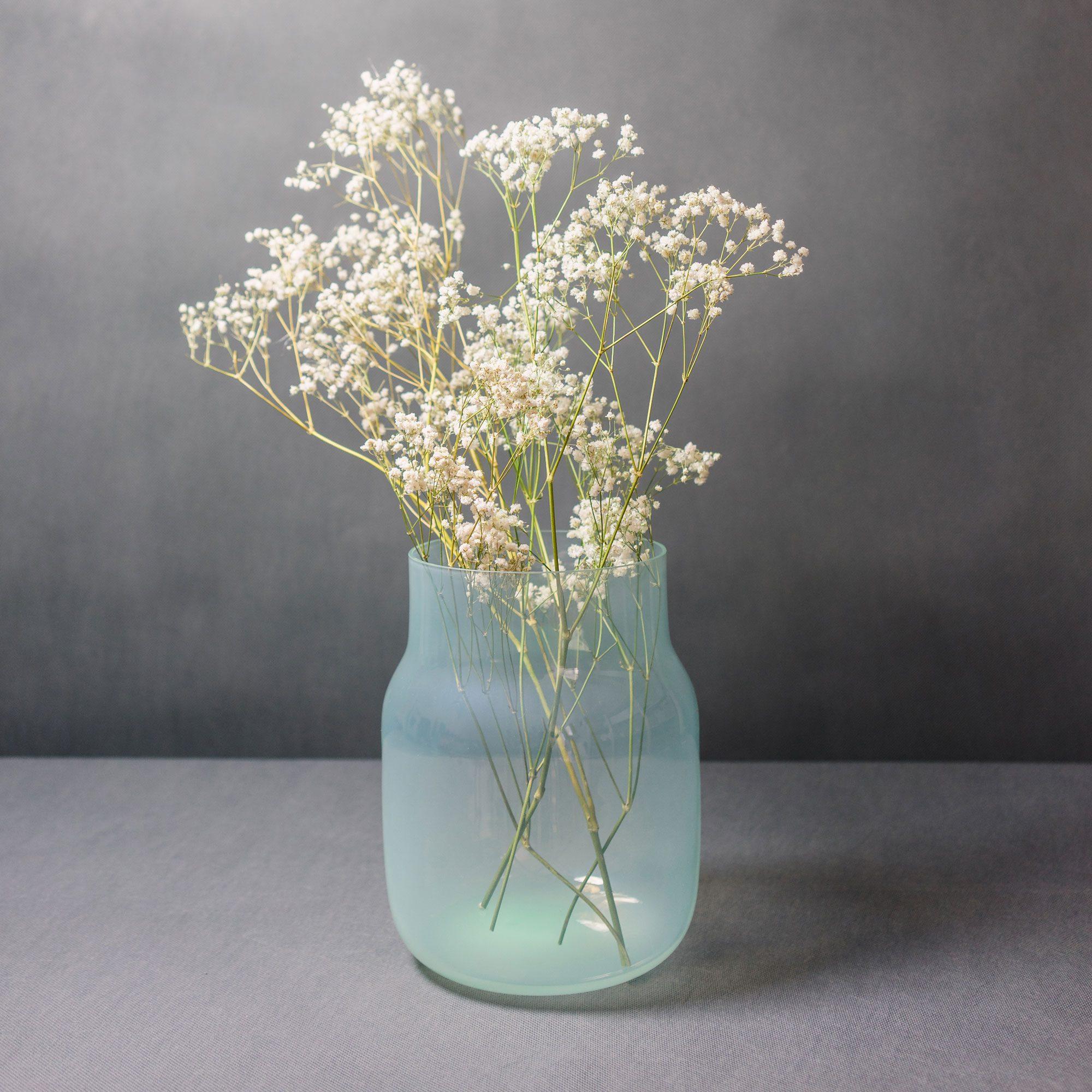 Bohemian glass vase by Dechem