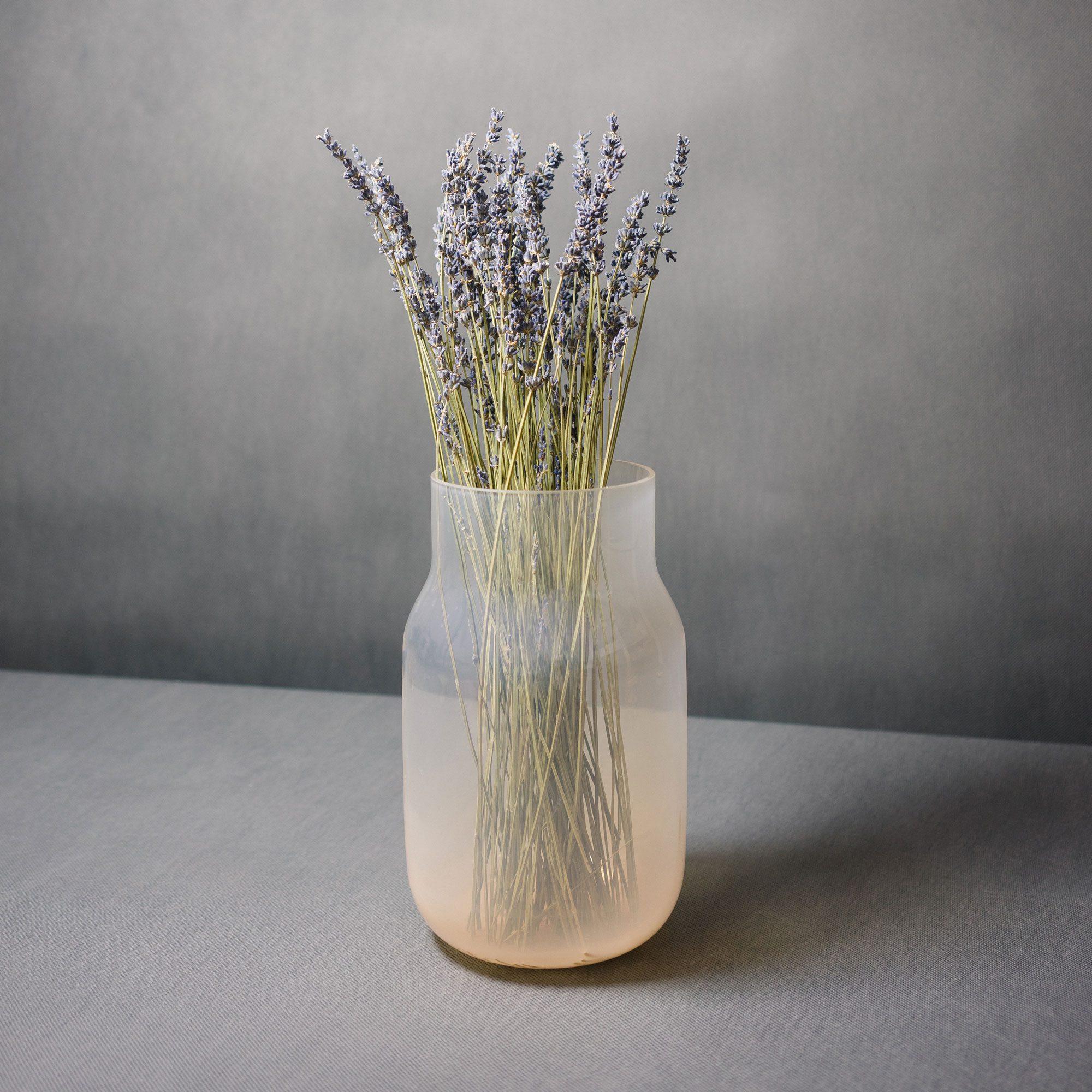 Nude vase by Dechem with lavander