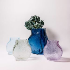 Glass wooden vases by Sebastian Kitzberger