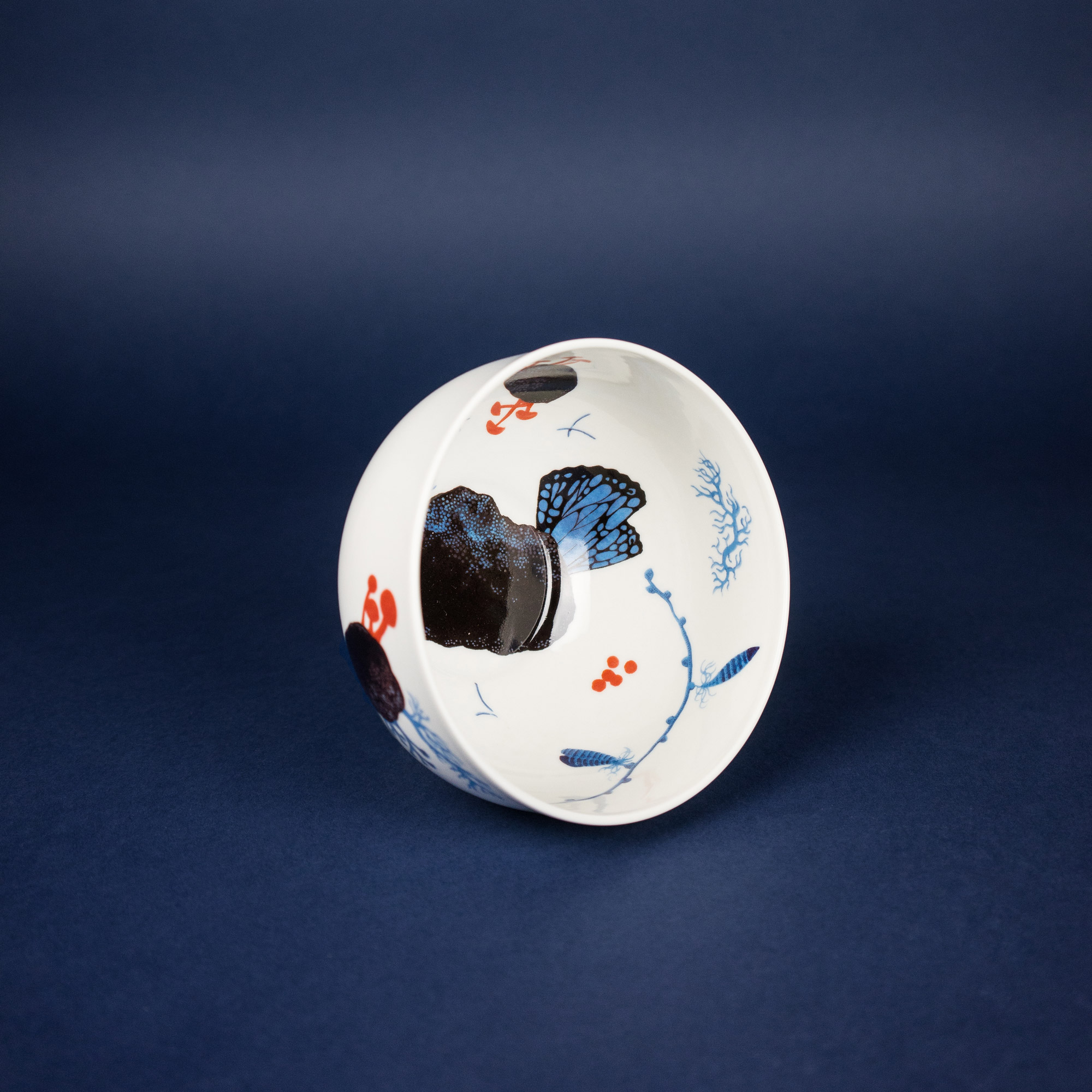 Colourful porcelain bowl by Michal Bacak for Krehky