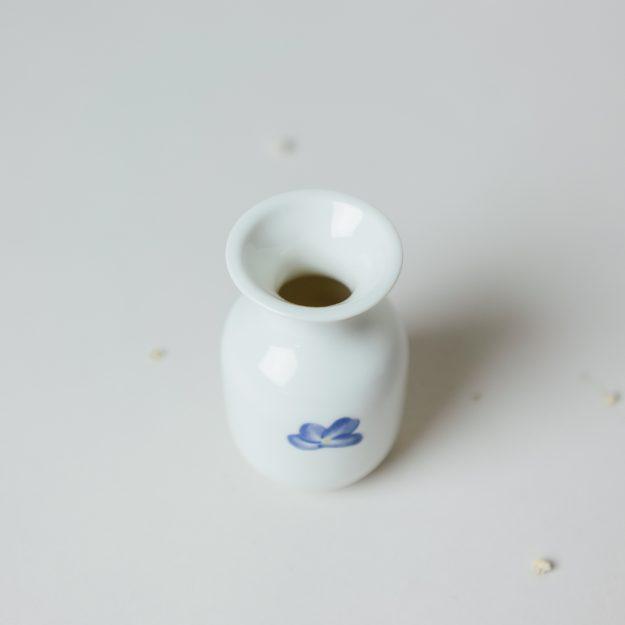 Small porcelain violet vase by Michal Bacak