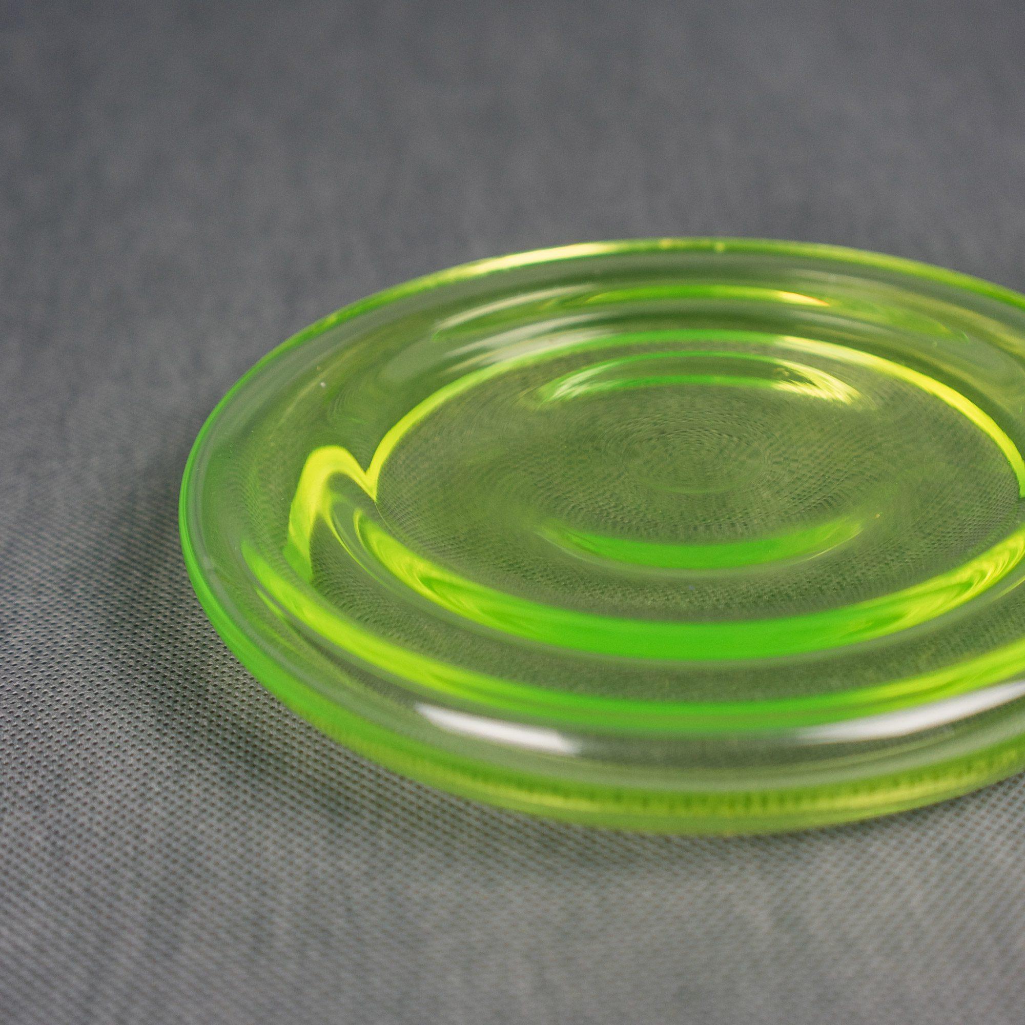 Clear uranium small bowl by Michal Prazsky