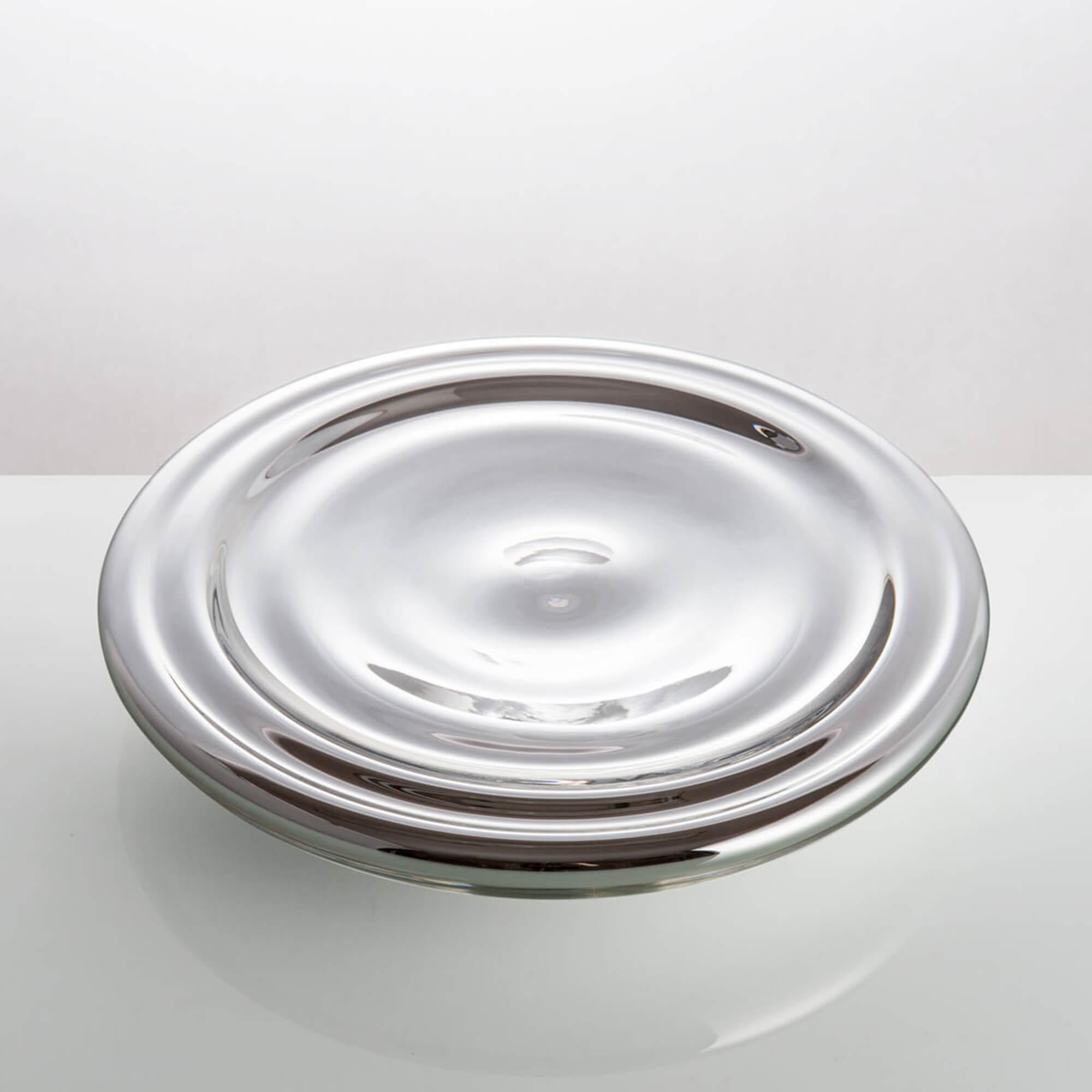 Silver glass serving bowl by Michal Prazsky