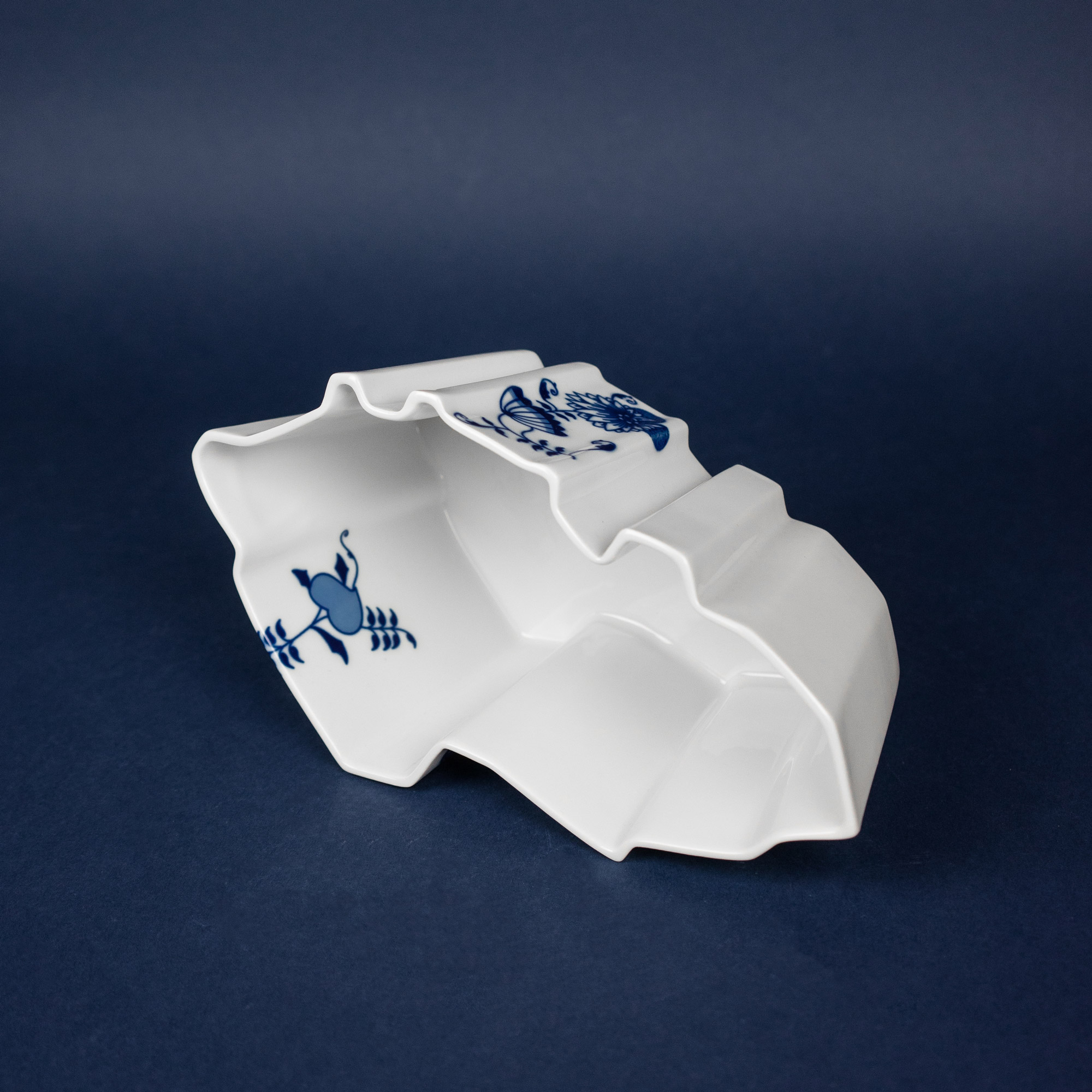 Porcelain bowl in a shape of Czechia by Qubus design studio