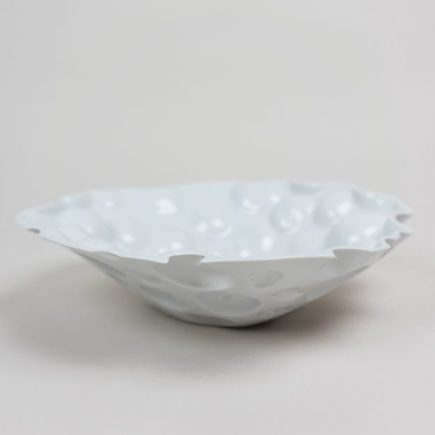 White porcelain bowl with apple imprints by Tyformy designers