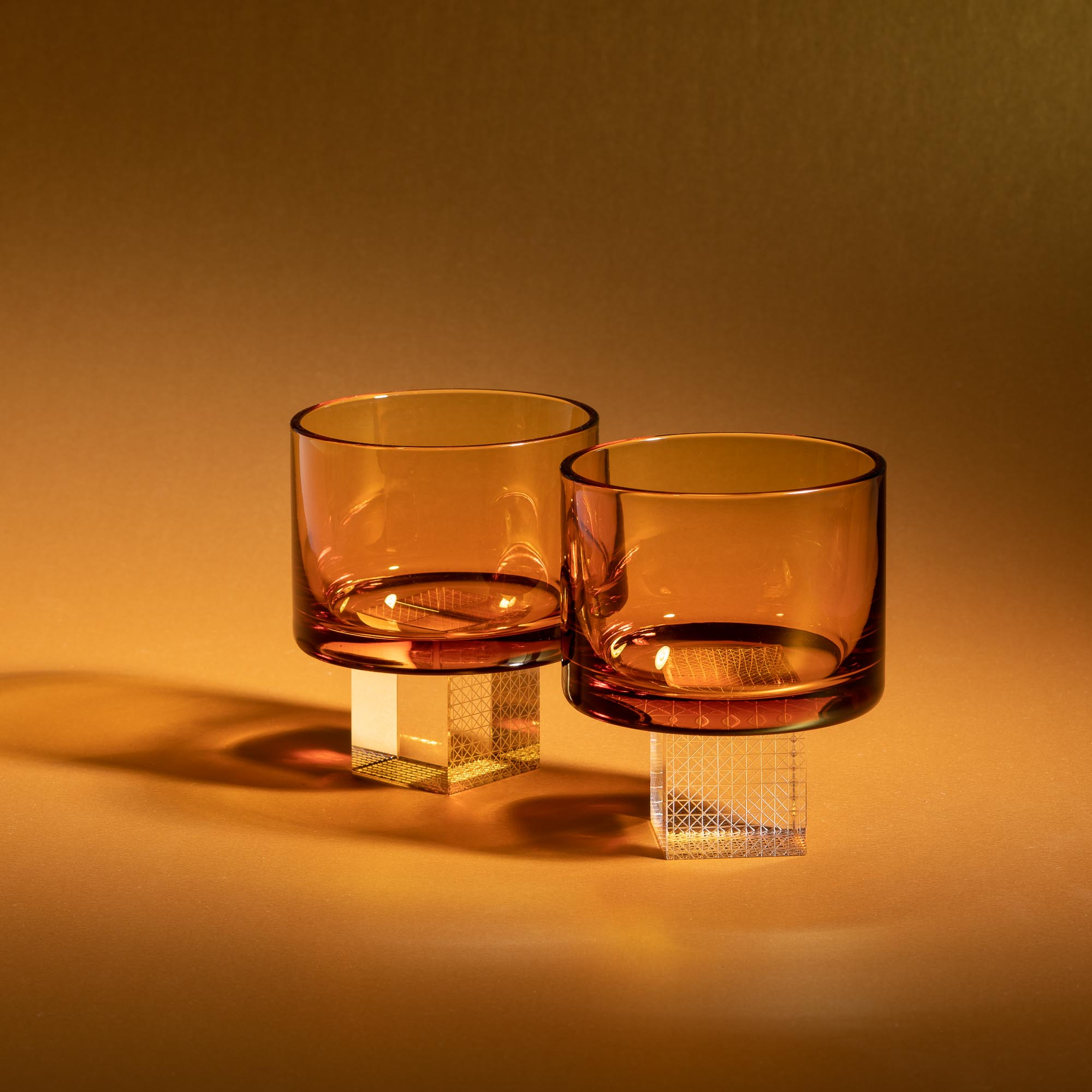 Amber colour of crystal glasses for whiskey by Lukas Houdek