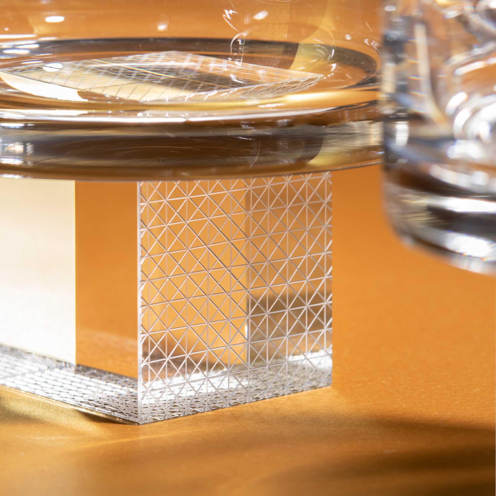 Two transparent crystal glasses for whiskey by Lukas Houdek