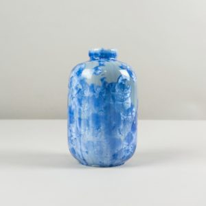 Light blue crystalline glazed vase by Milan Pekar