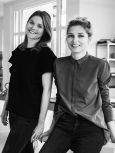 The two designers of PBG brand Tereza Majerova and Aneta Vojtkova.