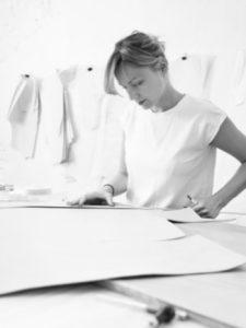 Yrnche designer Pavlina Frycova during her work.