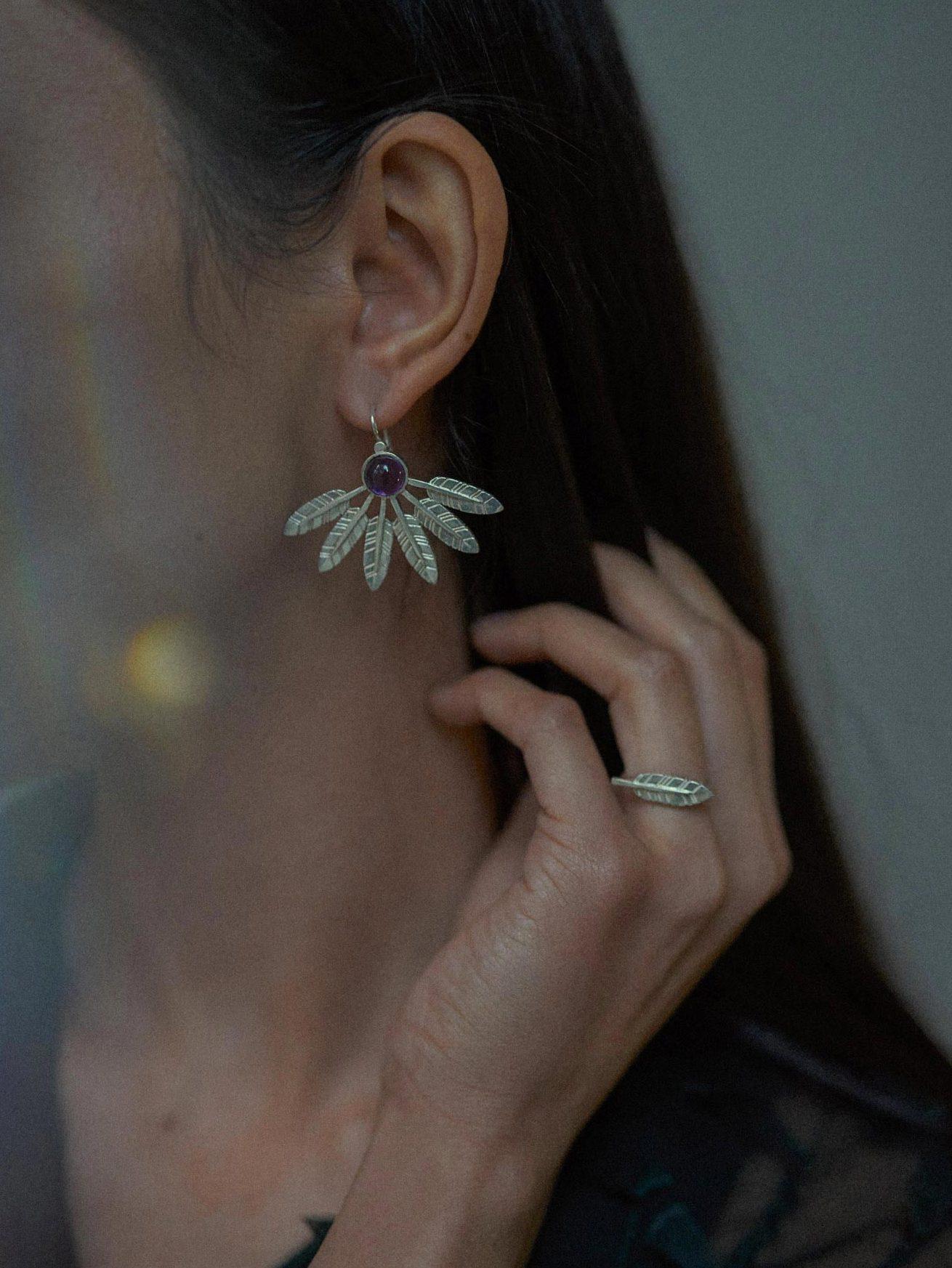 Feather earrings Janja Prokic