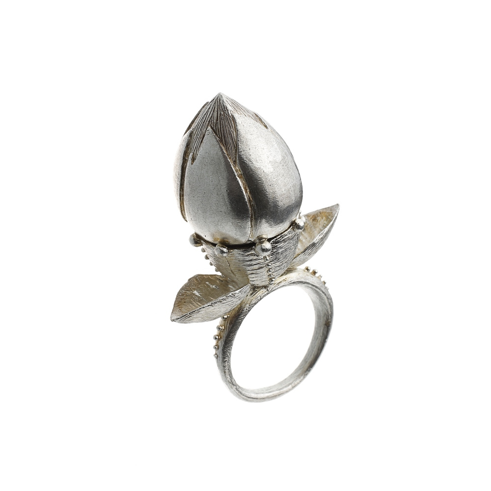 Janja Prokic silver pupen ring