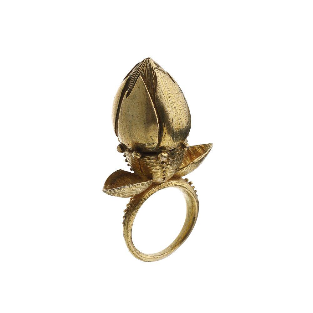 Janja Prokic gold pupen ring
