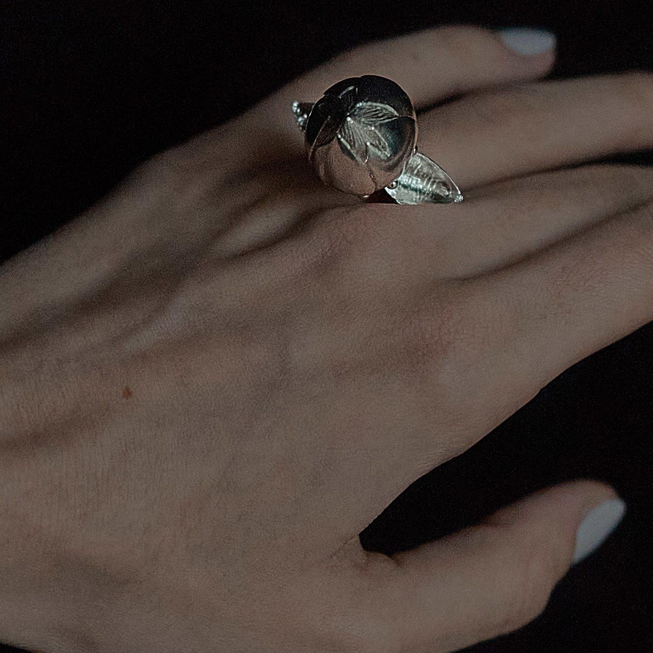 Silver pupen ring Janja Prokic